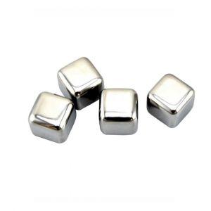Metalen ijsblokjes (4 stuks)