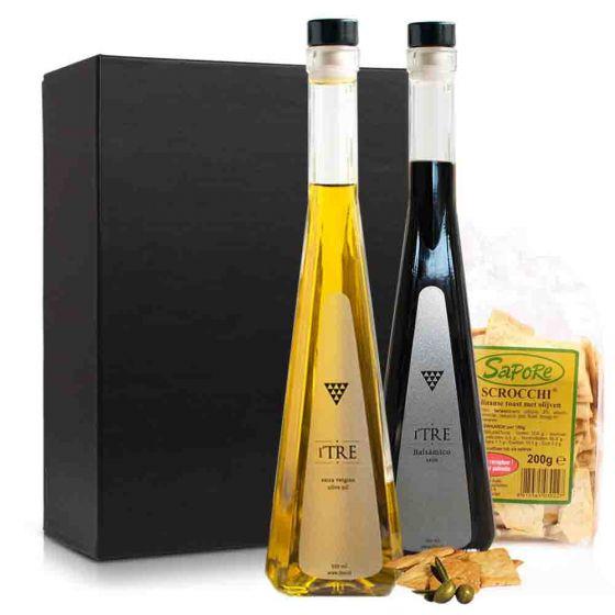 Olijfolie & balsamico pakket (2 flessen)