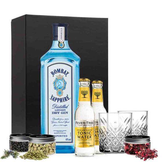 Gin & tonic pakket met Bombay Sapphire
