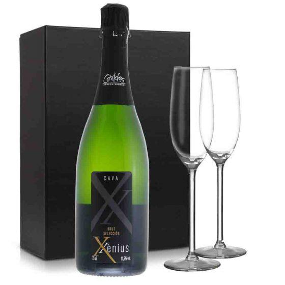 Cava Xenius pakket met 2 glazen