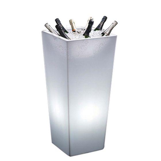 Wijnkoeler Totem vierkant met LED verlichting
