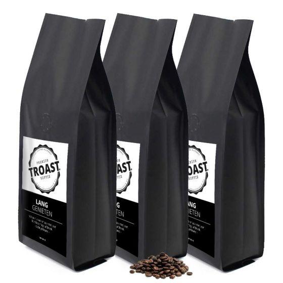Troast koffiebonen 'lang genieten' 3x1kg
