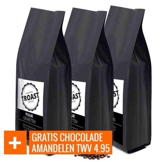 Troast koffiebonen 'puur genieten'