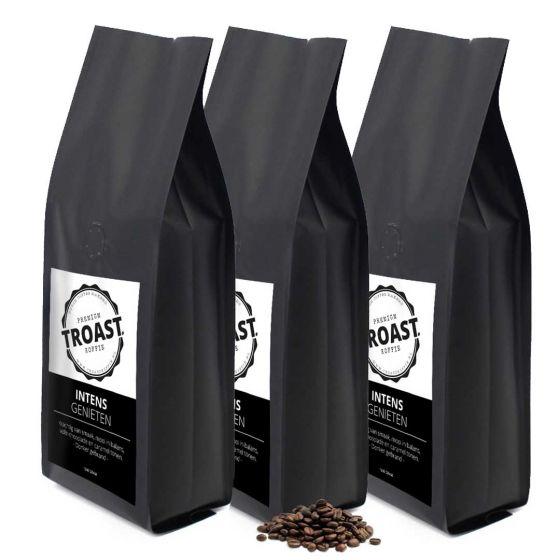 Troast koffiebonen 'intens genieten' 3x1kg