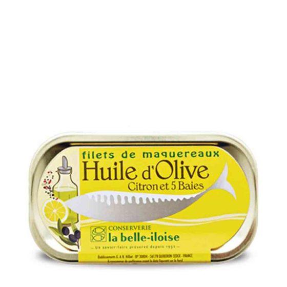 La belle-iloise Makreel in de olijfolie met citroen