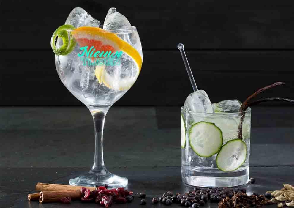 Gin tonic glas met logo